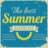 Vintage styled retro summer poster Stock Photo