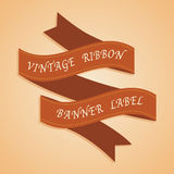 Vintage Styled Ribbons Stock Photo