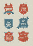 Vintage styled shield sticker Royalty Free Stock Image