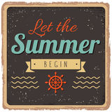 Vintage styled summer poster Royalty Free Stock Photography