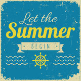 Vintage styled summer poster Stock Image