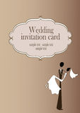 Vintage styled wedding card Royalty Free Stock Photos