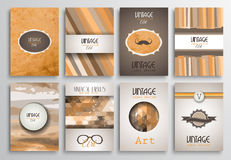 Vintage Styles brochure templates set with Labels Stock Images