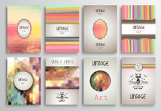 Vintage Styles brochure templates set with Labels Royalty Free Stock Photo