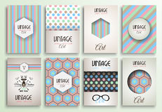 Vintage Styles brochure templates set with Labels Royalty Free Stock Image
