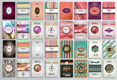 Vintage Styles brochure templates set with Labels. Stock Photography