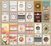 Vintage Styles brochure templates set with Labels Royalty Free Stock Images
