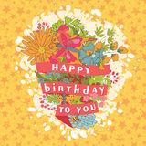 Vintage Stylish floral cards ,invitations with butterflies.Happy Stock Photo