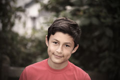 Vintage stylistic portrait of smiling boy Royalty Free Stock Photography