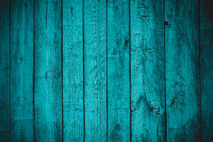 Vintage stylized blue planked wood board Stock Photos