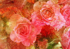 Vintage stylized floral picture Royalty Free Stock Images