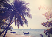 Vintage stylized photo of Andaman sea coast. Stock Photos