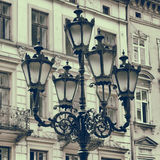 Vintage Stylized Photo Of Street Light Stock Images