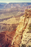 Vintage stylized picture of Grand Canyon. Royalty Free Stock Photos
