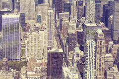 Vintage stylized picture of Manhattan, New York City. Stock Photo