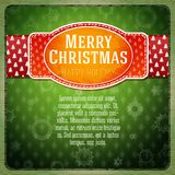 Vintage stylized red Merry Christmas label, Stock Photos