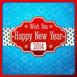 Vintage stylized red New Year label, texture on Royalty Free Stock Image