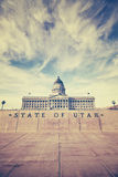 Vintage stylized Utah State Capitol building in Salt Lake City. USA Stock Images
