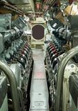 Vintage Submarine Engine Room Royalty Free Stock Images