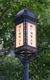 Vintage subway sign, Manhattan, New York. USA Stock Photos