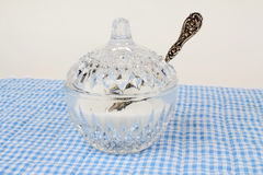 Vintage Sugar Bowl and Spoon Stock Image