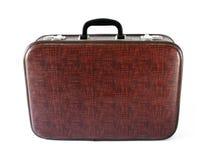 Vintage suitcase. Isolated on white Stock Photo