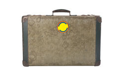 Vintage suitcase. Old vintage suitcase isolated on white Stock Photos