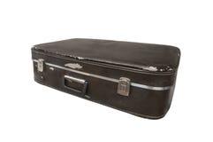 Vintage suitcase. Isolated on white background Stock Photo