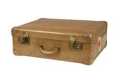 Vintage suitcase. Isolated on white royalty free stock photography