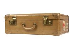 Vintage suitcase. Isolated on white stock image