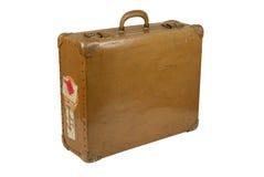 Vintage Suitcase. Isolated on white stock photography