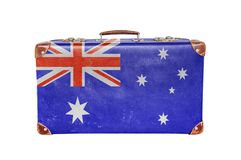 Vintage suitcase with Australia flag Royalty Free Stock Image