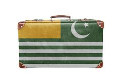 Vintage suitcase with Azad Kashmir flag Royalty Free Stock Image