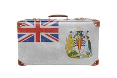Vintage suitcase with British Antartic Territory flag Royalty Free Stock Photos