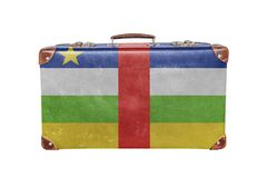 Vintage suitcase with Central African Republic flag Royalty Free Stock Photos