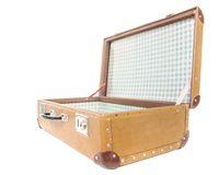 Vintage suitcase. Clipping path included. Royalty Free Stock Photo