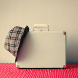Vintage Suitcase and hat Royalty Free Stock Photos