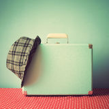 Vintage Suitcase and hat royalty free stock images