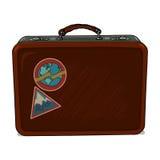 Vintage suitcase illustration Royalty Free Stock Photo