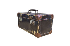 Vintage suitcase isolated on white background. Stock Photography