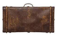 Vintage suitcase. Isolated on white background. Vintage travel luggage Royalty Free Stock Photo