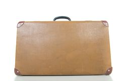 Vintage suitcase isolated on white. Stock Images