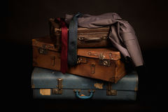 Vintage suitcase and luggage Royalty Free Stock Photos