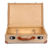 Vintage suitcase opened front Stock Image