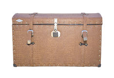 Vintage suitcase on the rear of the car Royalty Free Stock Image