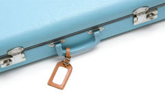 Vintage suitcase with tag Royalty Free Stock Images