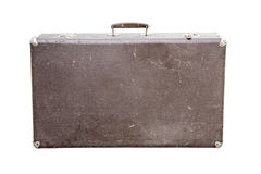 Vintage suitcase on white Royalty Free Stock Images
