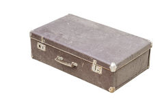 Vintage suitcase on white Royalty Free Stock Photos