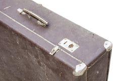 Vintage suitcase on white Royalty Free Stock Photos