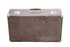 Vintage suitcase on white Royalty Free Stock Image